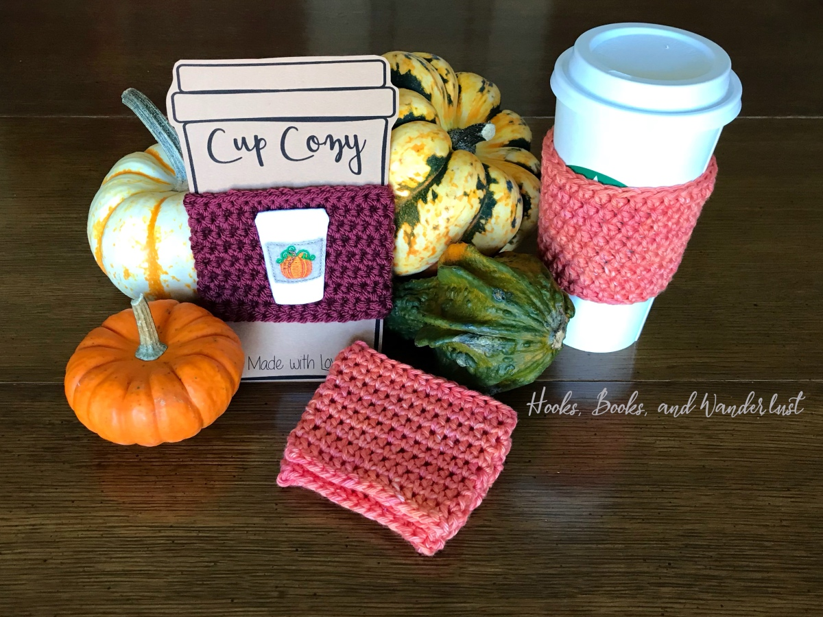 Basic Crochet Coffee Cozy Tutorial and Free Template