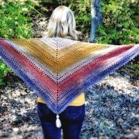 Autumn Walks Triangle Scarf - Crochet Pattern