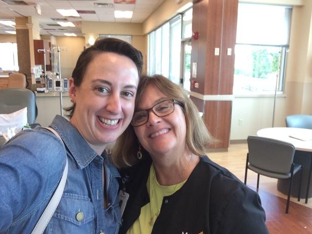 Last Herceptin treatment, posing with my favorite chemo nurse, Charlene