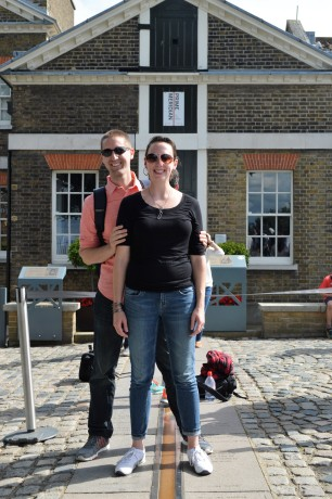 Standing over the Prime Meridian