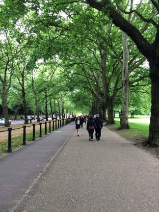 Green Park path along Constitution Hill.